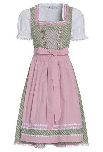 Mädchen-hellgrün (Distler Original Verspieltes Mädchen Dirndl hellgrün,140)