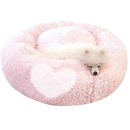 flauschig Ethical Pet bett für kleine Hunde, waschbar, um Mikrofaser, kleine Cuddle Pet bett, orthopädische Hundebett Royal (Pink)
