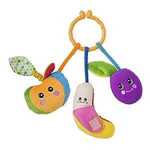 Chicco Tutti Frutti - Sonajero suave y ligero de frutas con diferentes actividades y fácil de agarrar