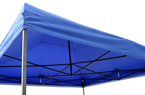 All Seasons Gazebos, Choice Of 5 Colours and 2 Sizes, Heavy Duty, Fully Waterproof , Premium Pop Up Gazebo With 4 x Zip Up Side Panels and carry bag (Blue, 3m x 3m)