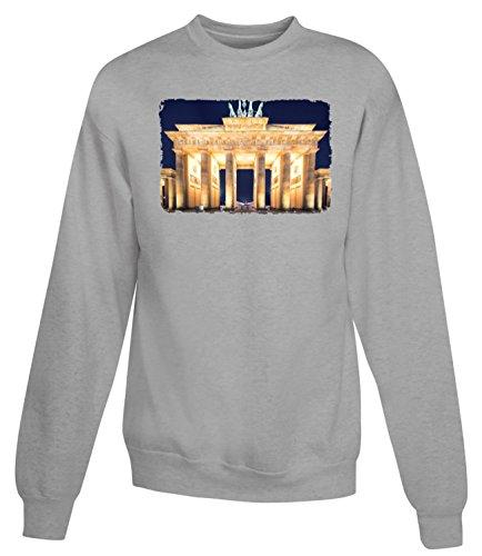 Billion Group | Framous Brandenburg Gate | City Collection | Women's Unisex Sweatshirt Gris
