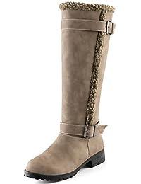 ShangYi Fashion Zapatos Botas para mujer otoño/invierno Fashion botas de piel sintética al aire