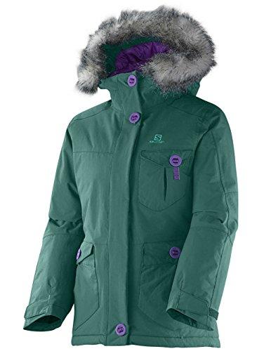 Salomon Whites Eason Jacket giacca da snowboard Bambina, Verde alpino, 152