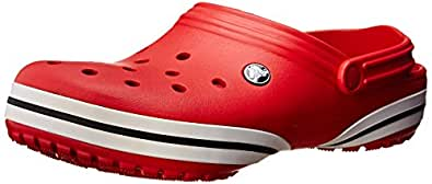 Crocs Unisex Crocband-X Red Clogs and Mules - 7