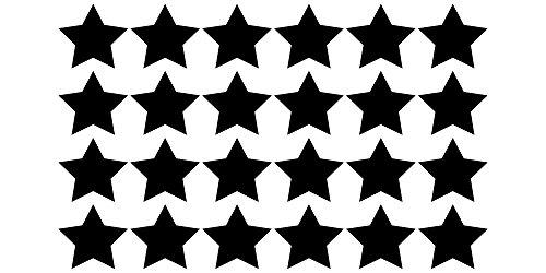Tafelfolie Etiketten Sterne 24 Stück