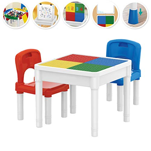 deAO LELE Brother Centro de Actividades 3en1 Mesita Multiusos para el Aprendizaje y Creatividad Infantil...