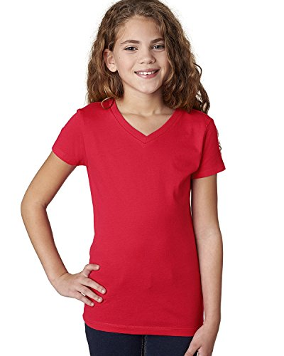 3740-next-level-girls-adorable-v-neck-t-shirt-red-3740-m