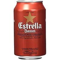 Estrella Damm Cerveza - Paquete de 12 x 33 cl - Total: 3960 ml