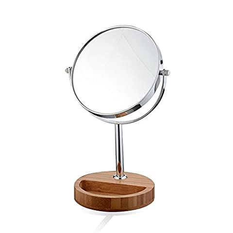 Miroir de maquillage de bureau Miroir de beauté à double face 3 X Magnifié Portable Princesse Miroir Vanité Miroirs de beauté Miroir de rasage