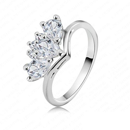 Adisaer Partnerringe Damen Ring Silber
