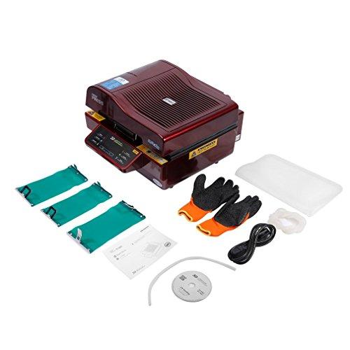 Transferpresse,Hehilark Multifunktional DIY Transferpresse T-Shirtpresse Heat Press Machine| Printing Size: 300*420*20mm | Power: 2900W | Voltage: 110V / 220V | Vacuum Pump: 150W | Max vacuum: -640mmHg | Serial: -0.08Pa(ST-3042) (Paket Vacuum Maschinen)