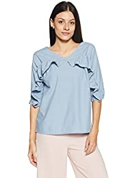 Symbol Amazon Brand Women's Plain Loose Fit Top