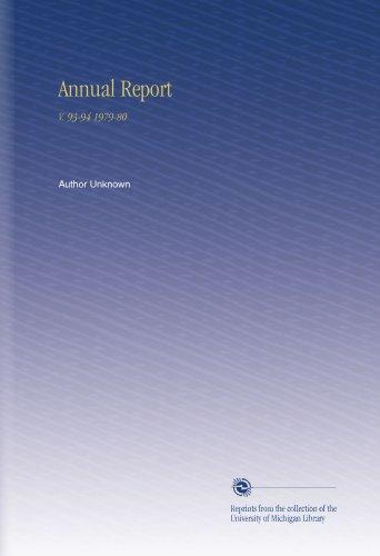 Annual Report: V. 93-94 1979-80