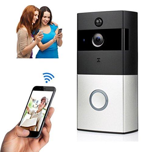 Preisvergleich Produktbild Bescita Türklingel,  WIFI Video Smart Türklingel 720 P HD Überwachungskamera Nachtsicht Türklingel Bescita