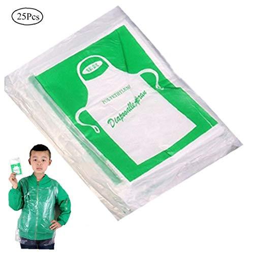 25 Stück Einweg-Schürzen Für Die Küche Unisex Kunststoff Transparent Sanitärreinigung Schürze Haushalt Artikel (Adult Allgemeine) - Kunststoff-einweg-schürze