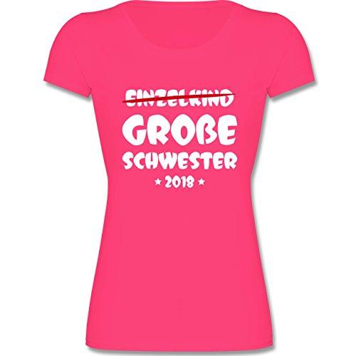 Shirtracer Geschwisterliebe Kind - Einzelkind Große Schwester 2018-104 (3-4 Jahre) - Fuchsia - F288K - Mädchen T-Shirt (Kleine Shirt Mädchen)