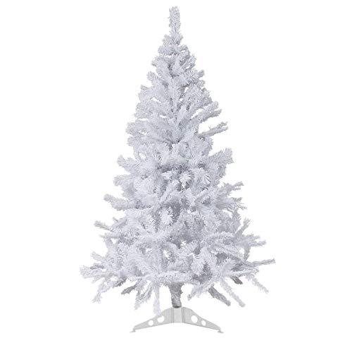 Wohaga albero di natale artificiale incluso supporto 180cm 600 rami abete decorazione natalizia bianco