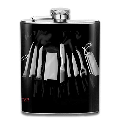 Dexter's Kill Tools Wine Flasks Hip Flask with Funnel Stainless Steel 7 OZ Multicolor