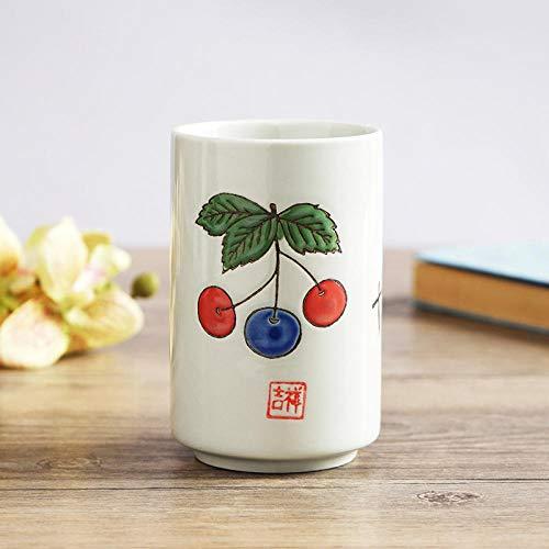 ZHOUQINGCUP Tasse en Porcelaine Céramique Cup_Water Cup Straight Cup Cup Cup Quatre Boîte-Cadeau Coupe @ 350Ml_Blueberry