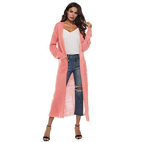 Beikoard Damen Long Sleeve Open Cape Casual Mantel Bluse Kimono Jacke Herbst Strickjacke Unregelmäßiger Pullover Cardigan