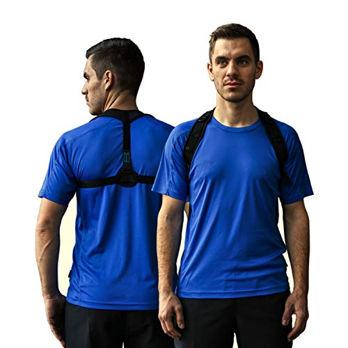 PHYSIAID Haltungstrainer für einen geraden Rücken - für eine gesunde aufrechte Haltung - beugt Rücken- und Nackenschmerzen vor + Bonus Videokurs
