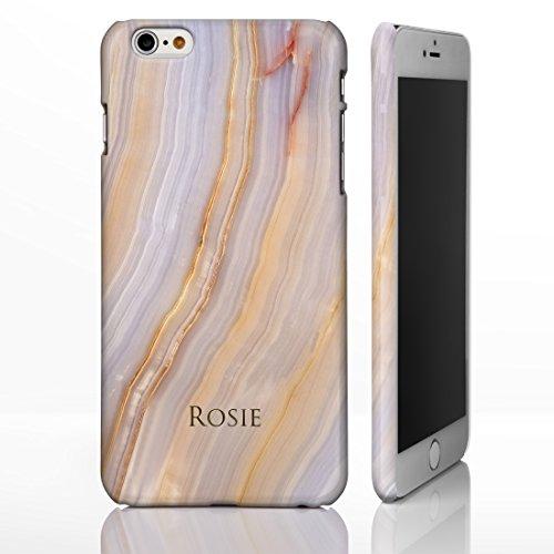 iCaseDesigner Schutzhülle für iPhone-Modelle, Marmor-Look mit individuellem Namen oder Initialen, glänzend, Individuelles Design, plastik, 8: Black and White Marble, iPhone 6+ / 6S+ Plus - Slim Case 6: Cream and Grey Marble
