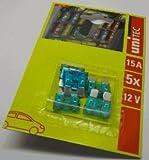 Unitec 76789 Flachsteck Sicherungen, 15 Ampere