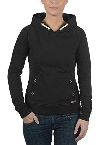 DESIRES Sandy Damen Kapuzenpullover Hoodie Sweatshirt mit Kängurutasche aus hochwertiger Baumwollmischung Black (9000)