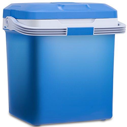 COSTWAY Elektrische Kühlbox Wärmebox Autokühlbox mit Kühl- und Warmhaltefunktion 26L AC220-240V/DC12V mit USB-Anschluss A++