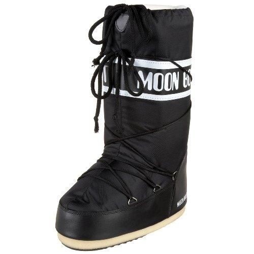 Moon Boot by Tecnica Nylon 14004400-001 Unisex Winterstiefel, black, Gr. 31-34 EU / 12.5 UK C - 1.5 UK