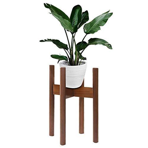 Yuke Blumentopfständer aus Holz, Blumentopfständer für Innen- und Außenbereiche, moderner Blumentopfständer für Häuser, Gärten und Innenhöfe -