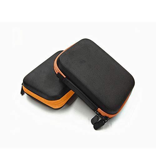Tasche Tragetasche Durable Travel Mini Leichte Hartschalen Kosmetiktasche für Roller Bottle Stoßdämpfung Tragbare Tasche EVA Reißverschluss(Orange)