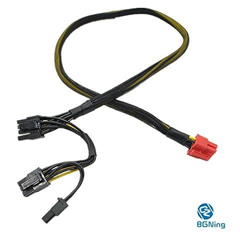BGNing Carte graphique PCI-E 18AWG Câble d'alimentation modulaire 8 broches à double 8 broches pour Antec ECO TP Série NP