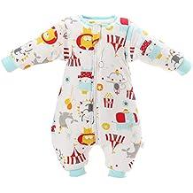 Saco de dormir para bebés Forro cálido Piernas de invierno Saco de dormir de manga larga