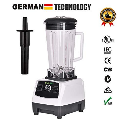 2200W Hochleistungs-Mixer Mixer Entsafter Hochleistungs-Küchenmaschine Ice Smoothie Bar Fruit Blender,White