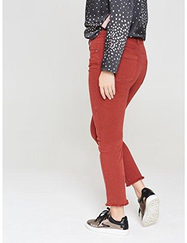 Fiorella Rubino: Pantaloni skinny in cotone stretch, linea push up (Italian plus size) Marrone