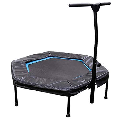 Chenhs trampolino giardino maniglia regolabile in altezza adatto all'uso domestico e in palestra muto esercizi di aerobica fitness perdita di peso (color : black, size : 110x125cm)