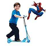 Kids Foldable 3 Wheeler Cycle Height Adjustable with Hand break and Bell (Blue)
