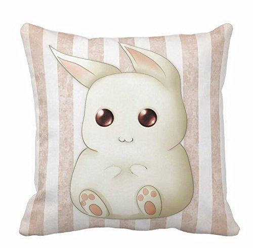 HOJJP Cute Puffy Kawaii Bunny Rabbit Throw Pillow Cases 18X18