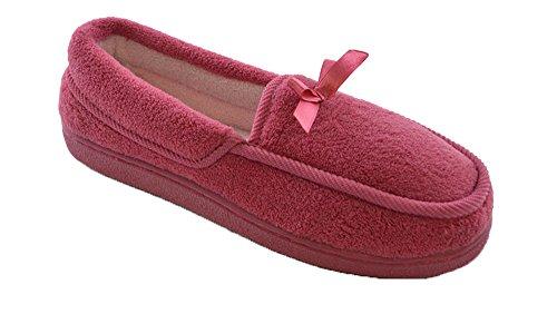 Pantofole Da Donna Slumberzzz In Pile, Morbide, Lavabili, Uni Rose