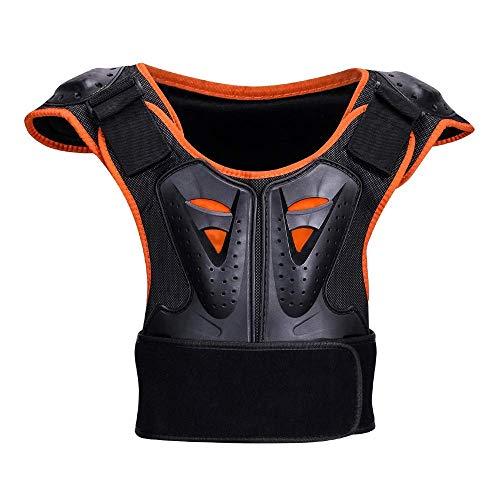 Yhongyang Kinder Outdoor-Sport-Rüstung Rückenschutz Brustschutz Für Kinder-Panzer Jacke Protektor Motorrad,L
