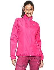 Puma Chaqueta cortavientos para mujer, ideal para correr, mujer, Running, Pink Glo