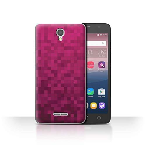 Stuff4® Hülle/Case für Alcatel Pop Star 3G / Heiß Rosa Muster/Pixelmuster Tarnung Kollektion