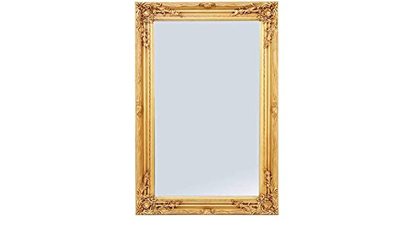 38a659c7cba58 Pharmore Large Ornate Gold Wall Mirror 60cm x 90cm With Ornate Detail on  Frame  Amazon.co.uk  Kitchen   Home