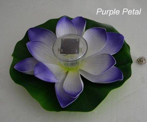 Preisvergleich Produktbild E - 3lue ® Solar Farbwechsel-Leds, Lotusblumen-Lampe Garten Teich, Pool (Lila)