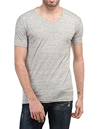 Tees Collection Men's Cotton V-Neck Half Sleeves T-shirt_TCBV006