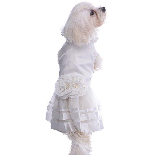 Haustier Hund Katze weiße elegante Hochzeitskleid-Hündchen Katzen Hochzeit Kleider Hochzeit...