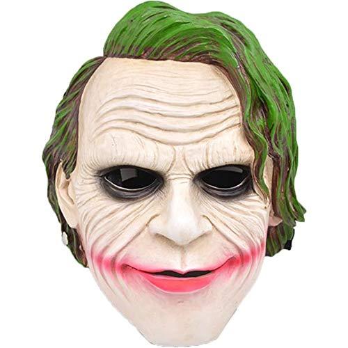 Knight Dark Collectors Kostüm - Clown Maske, Halloween Collector's Edition Harz Dark Knight Mask Maskerade Filmthema Clown Requisiten (Color : Beige)