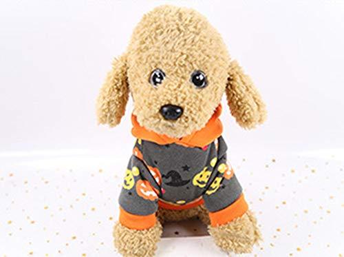 Teufel Pet Kostüm - XIAOPANG Haustier Halloween Kostüm Lustige Uniform Weihnachten Uniform Kürbis Teufel (XS-XXL),XS
