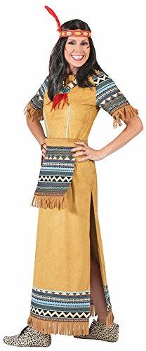 Indianerin Cherokee Kostüm für Damen Lang Gr. 40 - Wild West Kostüm Indianer
